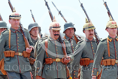 HR-WWIGAS 00006 WWI German Army soldiers on the march, historical re-enactor picture by Peter J Mancus