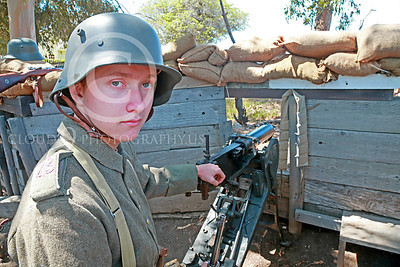 HR-WWIGAS 00002 A young WWII German Army machine gunner, historical re-enactor picture by Peter J Mancus