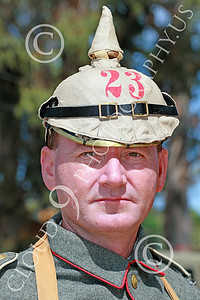 HR-WWIGAS 00003 A portrait of a WWI German Army soldier, historical re-enactor picture by Peter J Mancus