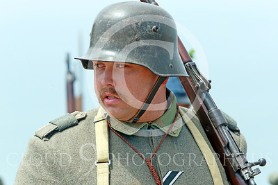 HR-WWIGAS 00010 A marching WWI German Army soldier, historical re-enactor picture by Peter J Mancus