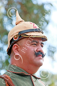 HR-WWIGAS 00019 A zinger portrait of a black mustached WWI German Army soldier, historical re-enactor picture by Peter J Mancus