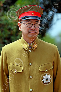 HR-WWIIIJS 00015 A standing World War II Imperial Japanese Army officer, historical re-enactor picture by Peter J Mancus