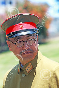 HR-WWIIIJS 00007 A World War II Imperial Japanese Army officer looks back, historical re-enactor picture by Peter J Mancus