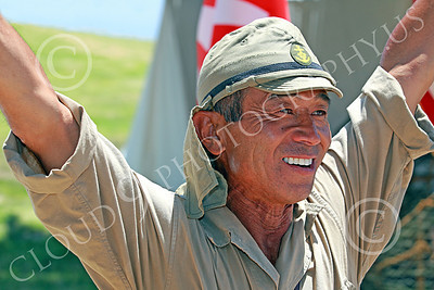 HR-WWIIIJS 00030 A happy World War II Imperial Japanese Army soldier, historical re-enactor picture by Peter J Mancus