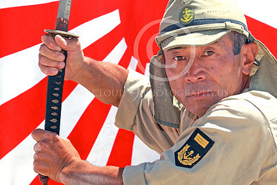 HR-WWIIIJS 00004 A World War II Imperial Japanese Army soldier manifests focused determination and hostile intent, historical re-enactor picture by Peter J Mancus