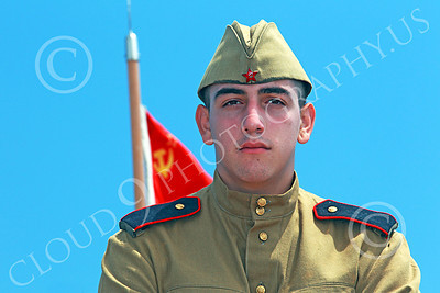 HR-WWIISAS 00014 A classic portrait of a young male World War II Soviet Army soldier, historical re-enactor picture by Peter J Mancus