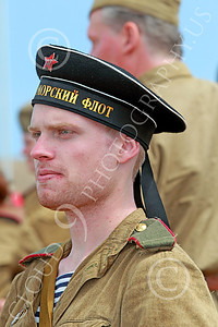 HR-WWIISAS 00023 Portrait of a young World War II Soviet Army soldier wearing a black hat, historical re-enactor picture by Peter J Mancus