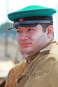 HR-WWIISAS 00019 Portrait of a World War II Soviet Army soldier wearing a green hat, historical re-enactor picture by Peter J Mancus