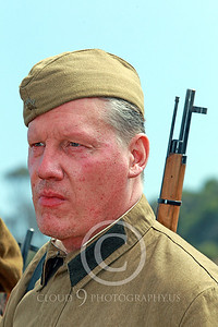 HR-WWIISAS 00013 A portrait of a World War II Soviet Army soldiere with a rifle, historical re-enactor picture by Peter J Mancus