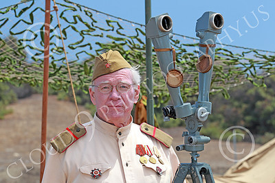HR-WWIISAS 00028 An older World War II Soviet Army soldier with medals, historical re-enactor picture by Peter J Mancus