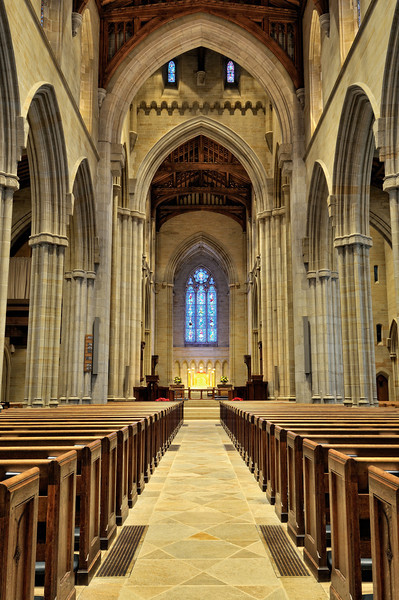inside Bryn Athyn Cathedral