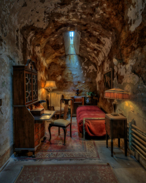 Al Capone's cell with a little Topaz Simplify added