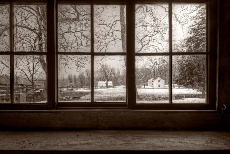 A February Morning at Hopewell (sepia)