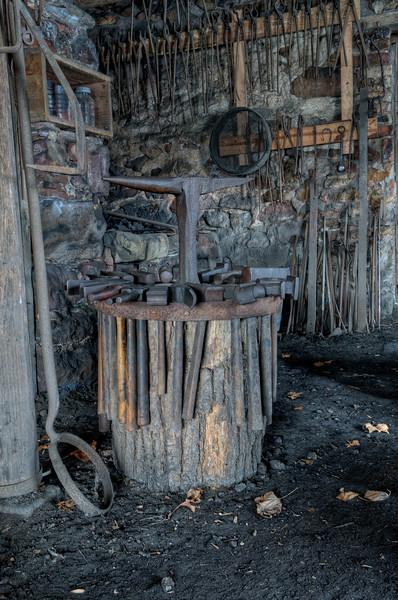 Blacksmith Hammer Rack