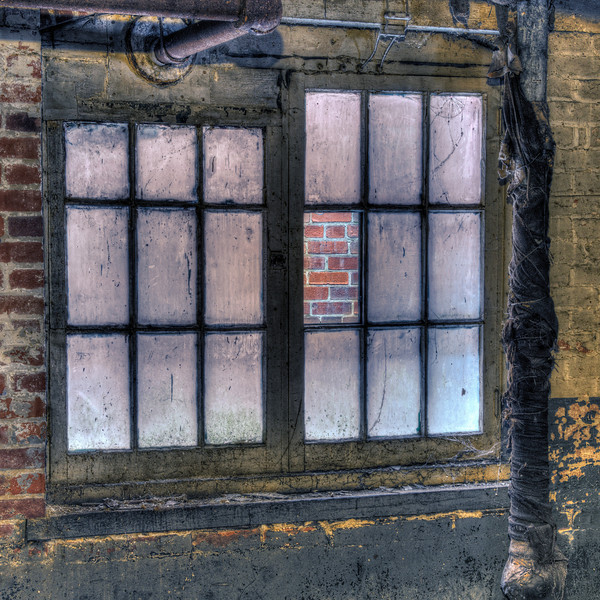 Brick-filled Window Pane