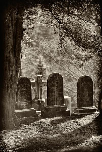 Three Tombstones & a Cross (v)