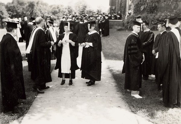 1940-1959 Commencement Graduation Wittich Hall