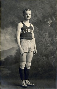1911 UWL La Crosse Normal School Basketball Player