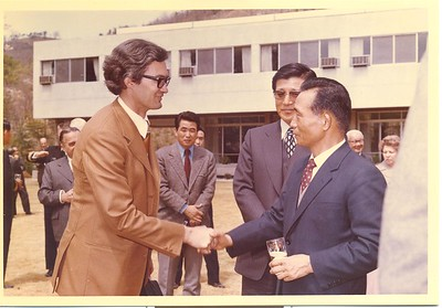 South Korean President Park Chung Hee and Chargé d'Affaires and Consul-General Richard Nottage, Republic of Korea, April 1972.