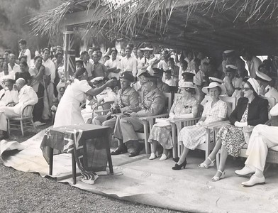 The Cook Islands welcomes the Official Party of His Excellency Lt General Lord Freyberg, Governor General of New Zealand, August 1948.