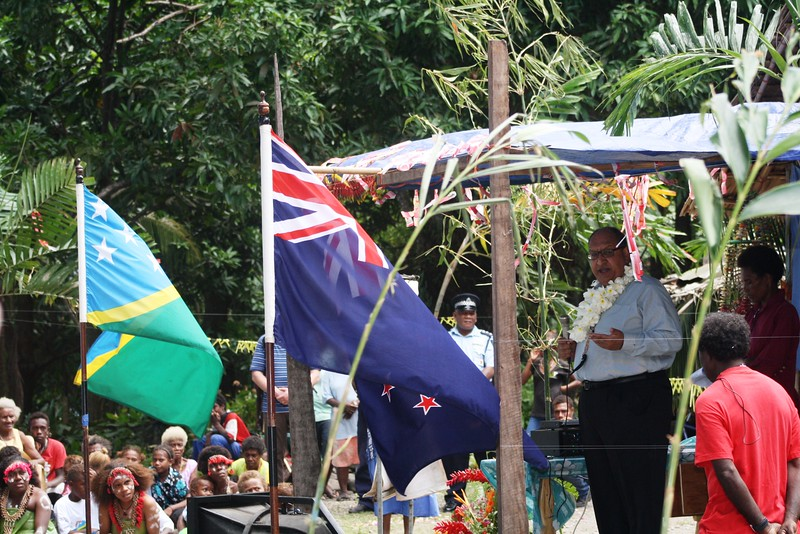 His Excellency the Governor General of New Zealand Hon Anand Satyanand during a state visit to Solomon Islands, October 2009.