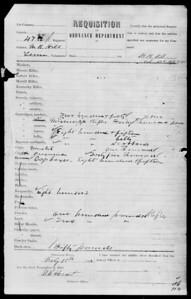City Unknown Ordnance Requisition Form (Feb 18, 1862; 47th Regiment, Tenn Vols); no Merrills ordered)