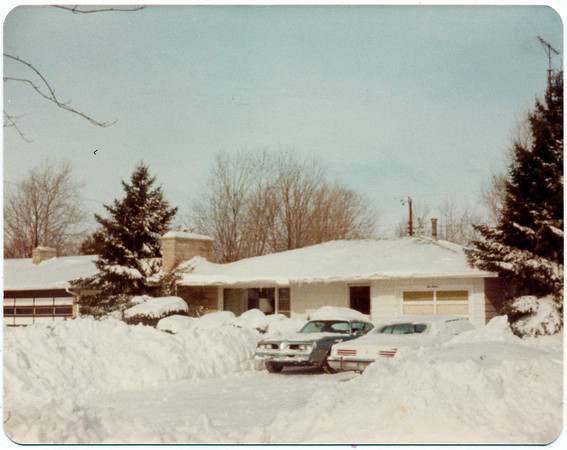 Blizzard of 1978 - January<br /> 913 N Berkley<br /> Monte Snyder's Mom's house(Winnie and O.D.'s house), Monte said that it took his dad 4 days to get out.<br /> Provided photo