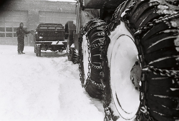 Blizzard 1978<br /> 1--78<br /> downtown<br /> Kokomo Tribune Photo