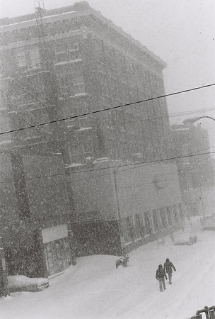Blizzard 1978<br /> 1-26-78<br /> downtown<br /> Main Street looking north from Superior Street. Armstrong Landon building. First Nation Bank in 2006.<br /> Kokomo Tribune Photo