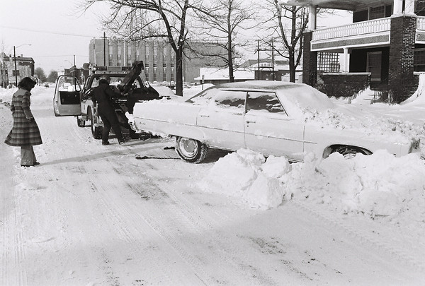 Blizzard 1978<br /> 1-28-78<br /> downtown<br /> Taylor Street looking west between Market and Apperson.<br /> Kokomo Tribune Photo
