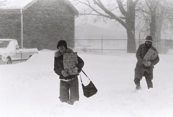 Blizzard 1978<br /> 1-26-78<br /> downtown<br /> Kokomo Tribune Photo