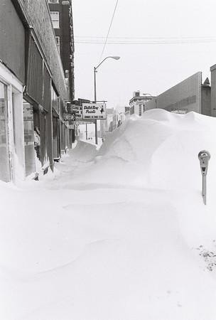 Blizzard 1978<br /> 1-27-78<br /> downtown<br /> Kokomo Tribune Photo