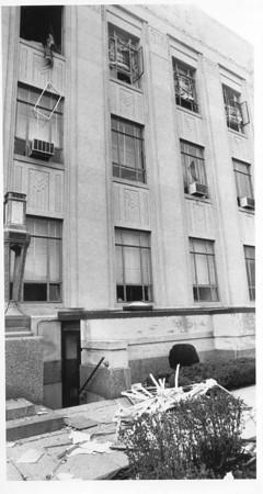 Photo by Paul Sancya. courthouse bomb 4/16/87