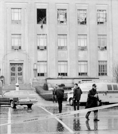 Courthouse bombing. Outside. April 1987