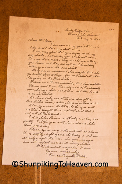 Letter from Laura Ingalls Wilder, Pepin County, Wisconsin