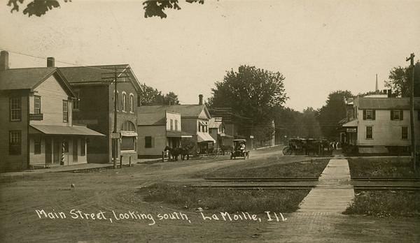 1911, Main St looking south, La Moille IL
