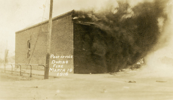 March 19 1916, Post Office During Fire, La Moille IL