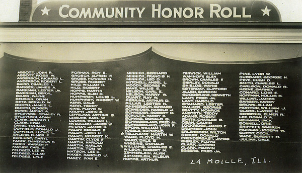 WW2 Community Honor Roll, LaMoille IL