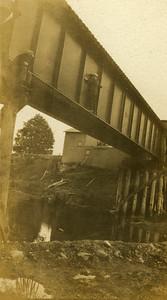 La Moille IL John Drummer on railroad bridge west of town 1900dpi