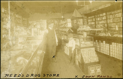 Reed's Drugstore, X-John Rambo, about 1902, La Moille IL
