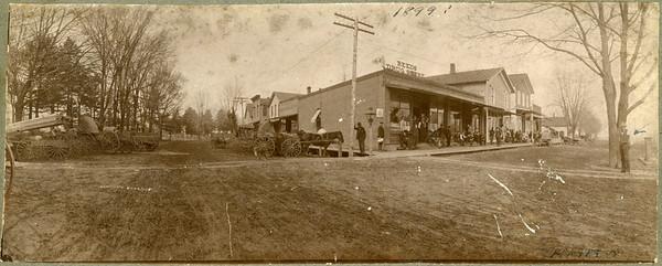 1899, Corner RR and Main, La Moille IL