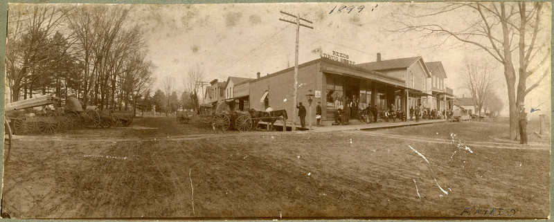 1899, Corner RR and Main, La Moille IL