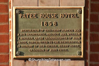 Plaque for Patee House Hotel, St. Joseph, Missouri