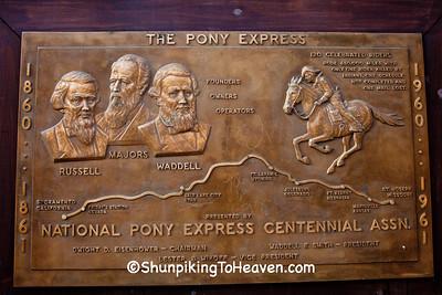 Pony Express Plaque, St. Joseph, Missouri