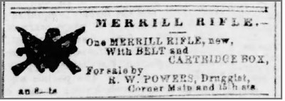 1861 08 16 Richmond_Dispatch_Fri__Aug_16__1861_ Merrill rifle for sale by druggist