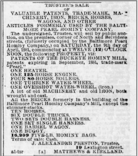 The Baltimore Sun 02 Apr 1881 Sat