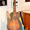"""GUITAR AUTOGRAPHED BY NORMAN JACKSON""<br /> <br /> River Road Queen Welcome Center <br /> Greenville, MS"