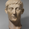 Working Title/Artist: Portrait head of Emperor Constantine<br /> Department: Greek & Roman Art<br /> Culture/Period/Location: Rome<br /> HB/TOA Date Code: 05<br /> Working Date: 330-350 AD<br /> photography by mma, Digital File DP138715.tif<br /> retouched by film and media (jnc) 2_24_10