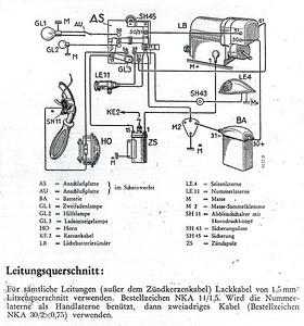 Na řadě je elektrika. Schéma dynamobateriového zapalování Bosch na internetu k nalezení nebylo, tak ho sem dávám. Třeba se bude někomu hodit