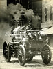 Engine Co. 35 with a full head of steam....the driver only controlled the steering wheel  and a partial brake...the Engineer controlled the speed and applied the brake....